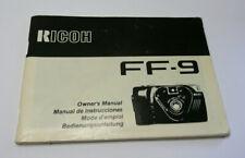 Original User Instruction Manual for Ricoh FF-9 Camera