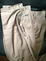 """BNWT M&S Light Brown Mole Cotton Chinos 32"""" Active Waist Trousers RRP£19.50 33""""L"""