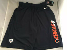 Nike NFL Equipment Mens S XXL Chicago Bears Dri Fit Blue Logo Basketball Shorts