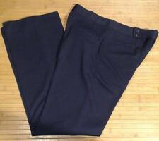 New Haggar Expandomatic Navy Blue Polyester Pants Mens 34x33