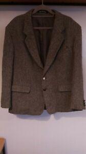 Vintage Fellini 100% Wool Harris Tweed Blazer Jacket - Made in Britain - 46 R