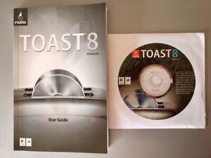 TOAST MAC 8 TITANIUM ROXIO CD DVD BLU RAY BURNING SOFTWARE MAC OS X TIGER • NEW