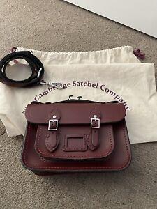 cambridge satchel mini oxblood colour
