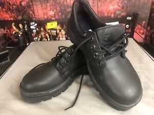 Steel Blue Black Work Shoes Steel Cap Size 8 New