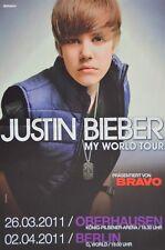 JUSTIN BIEBER - A3 Poster (42 x 28 cm) - My World Tour Clippings Sammlung NEU