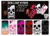 Apple iPhone XS Max XR X Hybrid Skull Skeleton Armor ShockProof Case Cover + Kit