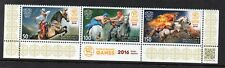 TIMBRES - KIRGHIZISTAN - KYRGYZSTAN - KEP - 2016 - CHEVAUX - WORLD NOMAD GAMES -