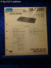 Sony Service Manual XM C6000 Power Amplifier (#3059)