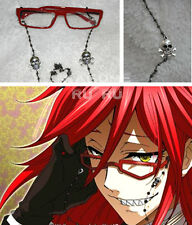 Black Butler Grell Sutcliff Cosplay Red Glasses