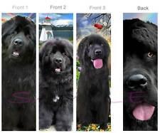 3 SET-NEWFOUNDLAND BOOKMARK Black Dog ART Pup Lighthouse book mark CARD figurine