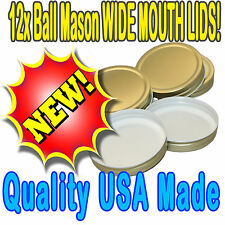 12 x Storage lid Wide Mouth 1 Piece High Heat /  BPA Free suit Ball Mason Jars