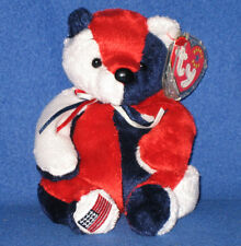 TY RF PATRIOT the BEAR BEANIE BABY - ORIGINAL VERSION - MINT TAGS