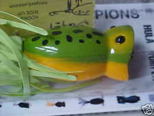 Arbogast Hula Popper G760-07 TopWater Lure in FROG/YELLOW BELLY  (Bass/Pickerel)