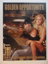 2006 Print Ad Sobe No Fear Gold Energy Drink ~ Sexy Girl Blonde Motorcycle