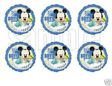 Baby Mickey Baby Shower Edible Party Image Cupcake Topper Frosting Circles