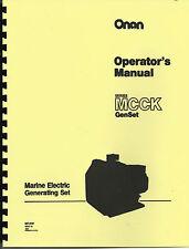 Onan MCCK Marine Electric Gererator Owner's Manual