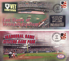 CITIZENS BANK PARK & VETERANS STADIUM PHILADELPHIA PHILLIES EVENT COVERS (2)