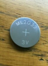 NEW ML2032 ML 2032 Rechargeable Button Cell Battery for Logitech K750 Keyboard