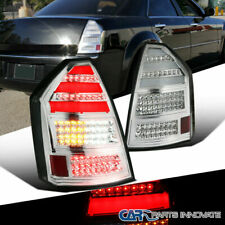 For 05-07 Chrysler 300C Replacement Clear LED Tail Lights Brake Parking Lamps