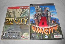 Lot de 2 jeux PC SIMCITY 3000 & SIMCITY 4 en bon etat