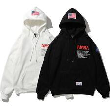 Men Women NASA Hoodie Pullover Top Hip-hop Sweater Unisex Sweatshirt Jumper Coat
