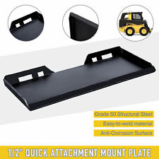 """Skidsteer Quick Tach Attachment Mount Plate Structural Steel Unpainted 1/2"""""""