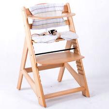 Treppenhochstuhl Kinderhochstuhl Babystuhl Babyhochstuhl Kinderstuhl BRAUN/NATUR