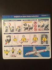 Safety Card / TRANSAVIA.COM / BOEING 737-800 /