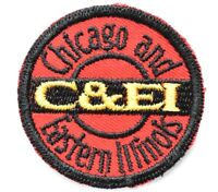 Vintage Railroad Sew On Patch Chicago & Eastern Illinois RR Railroadiana 2""