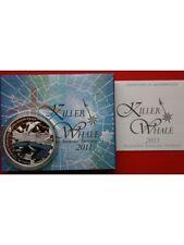 2011 Australia Killer Whale 1oz Silver Proof Dollar Coloured Coin Boxed Coa