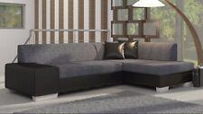 Corner Sofa FABIO Bedding Container Sleep Function New