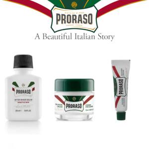 Proraso Aftershave balm + Pre-shaving cream + Shaving cream Travel set