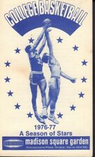 1976-77 Madison Square Garden Basketball Schedule jhxb