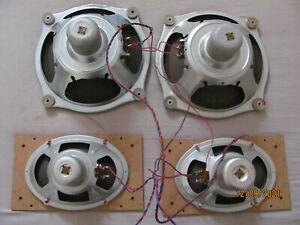 """Telefunken DMW AlNiCo Lautsprecher speaker set 2x 8"""" bass 2x 6 x 4"""" tweeter revi"""