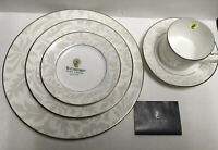 "Waterford China Dinnerware ""Biella"" 5 Piece Set Brand new in Box"