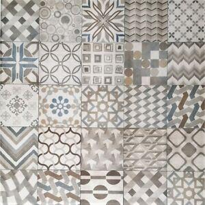 Mediterranean Mix Italian Porcelain Wall & Floor Tiles 20cm x 20cm / Sqm