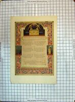 Old Print Colour Poem Him That Cometh Unto Me I Will In No Wise Cast Out