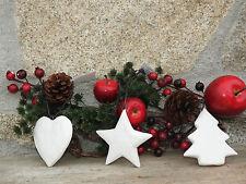 Pattini in legno marrone 000994 Natale türkranz Decorazione laccio Decorazione
