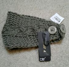 D&Y Knitted Olive Headwrap one size