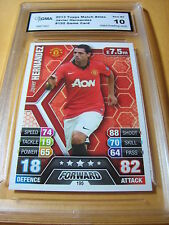JAVIER HERNANDEZ MANCHESTER UNITED 2013 TOPPS MATCH ATTAX GAME CARD GRADED 10