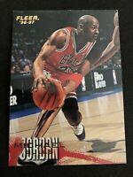 MICHAEL JORDAN 1996-97 Fleer Base #13 Bulls UNC HOF 6x NBA Champ
