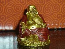 statua BUDDHA ORO CON VENTAGLIO BOX REGALO arte orientale soprammobili feng shui