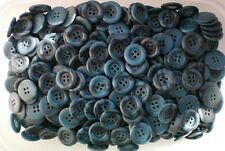 18mm 20mm Blue Brush Effect 4 Hole Craft Coat Jacket Buttons Button (W659 W659A)