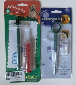 Pet Cat Dog Feeding Dispenser Kare Kind Pill Feeder Kit Syringe Baby Animals