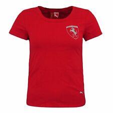 Puma Ferrari Logo Tee Womens Logo T-Shirt Red 557973 01 S