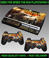 PLAYSTATION 3 Console Autocollant Peau Need Speed Course de Rue Skin & 2 X Pad
