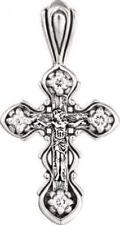 Religiöse Echtschmuck-Halsketten & -Anhänger mit Zirkon-Kreuz-Motiv