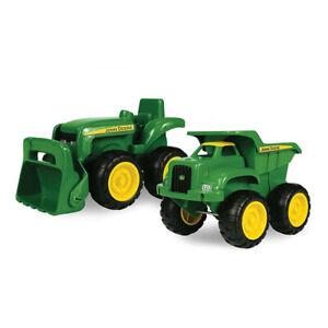 John Deere 15cm Kids Sandbox Vehicle Play/Toys/2y+ Tractor w/ Dump Truck Green