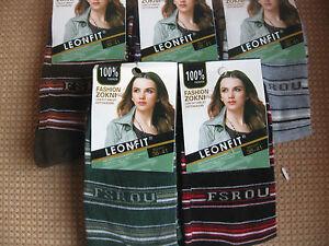 Ladies/girls cotton socks, by Leonfit sizes 3-5 or 5-7,,stripes