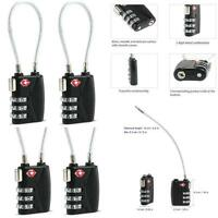 3-Dial Combination Padlock Case Luggage Lock Travel Suitcase Resettable Lock LD